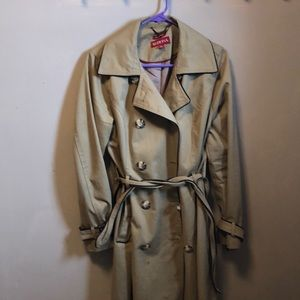 Merona size L Beige belted Trench Coat